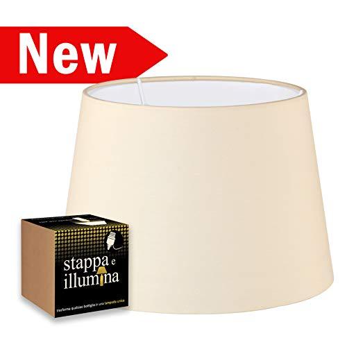 Kit de pantalla e iluminación para transformar tu lámpara de botella con una pantalla de tela - Pantalla de 33 cm de diámetro con portalámparas E27 - portalámparas para botella - Pantalla de lámpara