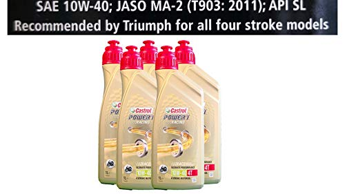 Castrol Power 1 Racing 4T 10W-40 motorolie 5x1 liter Specificaties API SJ JASO MA2