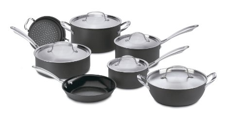 Cuisinart GG12 GreenGourmet HardAnodized Nonstick 12Piece Cookware Set