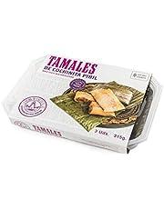 La Reina de las Tortillas - Líder europeo en gastronomía artesanal mexicana - Tamales de cochinita pibil. Listos servir. Maíz 100% nixtamilizado. Aptos para Celiacos. Bandeja de 3 unidades