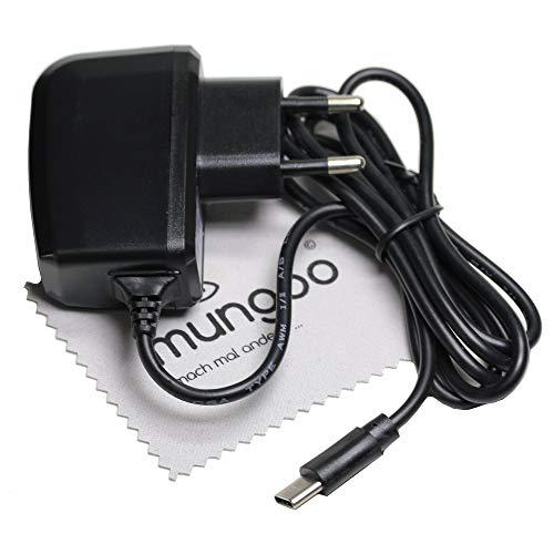 Cargador para LG G5 (SE), G6, G7 ThinQ, Q7, Q8, V20, V30, V30s ThinQ USB Tipo C, Cable de Carga de Red de 2 A OTB con paño de Limpieza mungoo