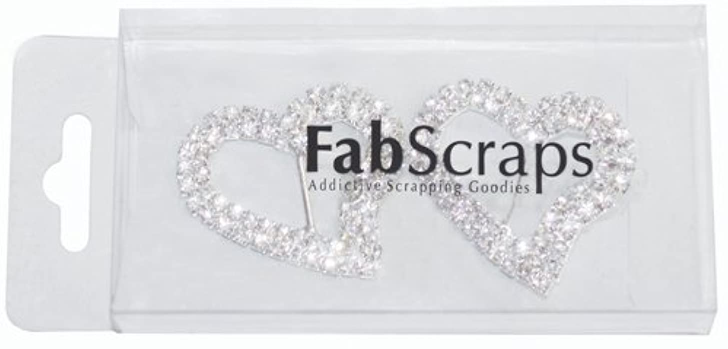 FabScraps Bling Buckles, Heart, 1.3 by 1.1-Inch, 2 Per Package