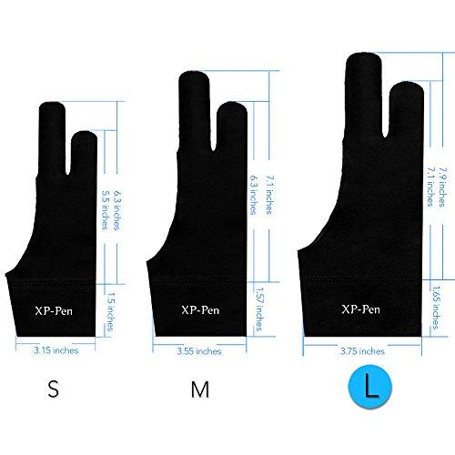 XP-Pen Lycra Antifouling Handschuh für Grafiktablett/Pen Display/Leuchtkasten (L)