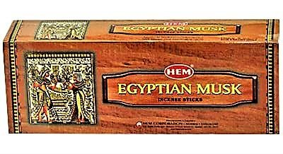 YesMandala Incienso Hem - Egyptian Musk - 6 Cajas de 20 Varillas