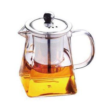 OFKPO 350 ml Teiera di Vetro con Filtro in Acciaio Inox