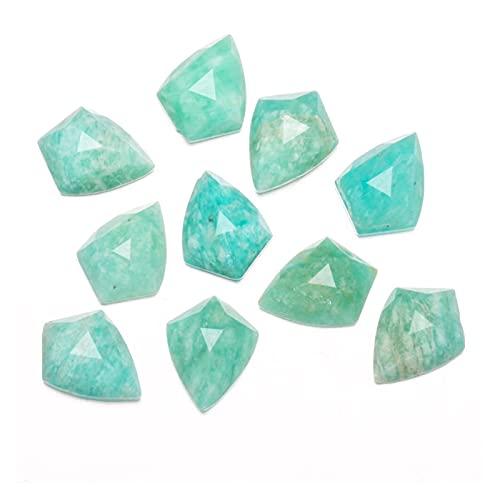 YSJJSQZ cabujón Nuevo 1pc Agates poligonales Piedras Naturales Cabochon Sin Agujero para Hacer joyería DIY Tamaño 10x14mm