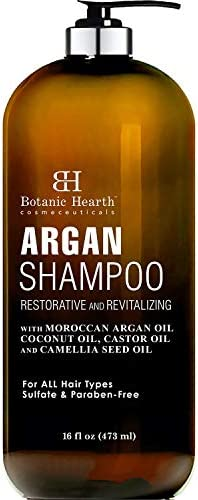 Botanic Hearth Argan Shampoo Hydrating Volumizing Sulfate Paraben Free All Hair Types Color product image