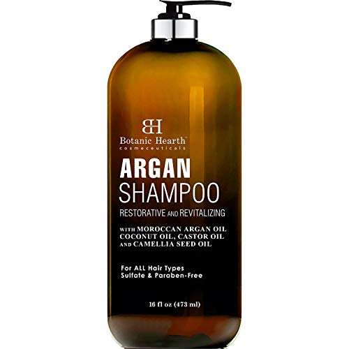 Botanic Hearth Argan Shampoo, Hydrating & Volumizing, Sulfate & Paraben Free, All Hair Types & Color Treated Hair, Men and Women 16 fl oz