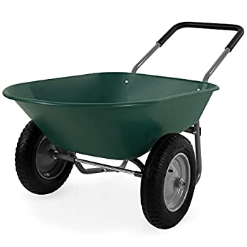 Best Choice Products Dual Wheel Home Wheelbarrow