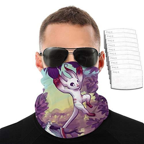 VOROY Ori-Blind-Forest Kaffiyeh con 6 filtros para protección facial de caza, funda facial morada para hermana de 9.8 x 19.7 cm