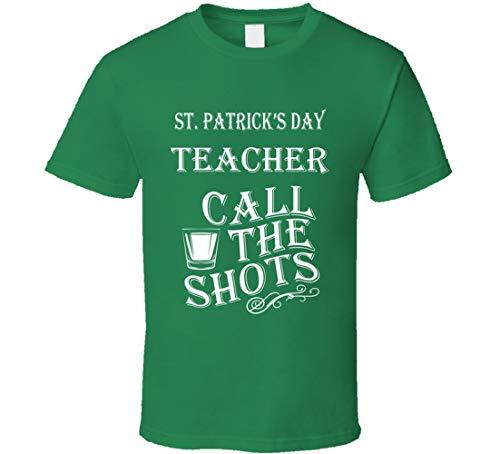 Personalizado San Patricio Día Maestro Llamar Los Disparos Divertido Personalizado Trabajo Carrera Camiseta Irlandés Verde