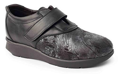 Calzafarma - Mod.14109 - Zapato de señora con Pala Elástica Ideal para juanetes y deformaciones, Aptos para Utilizar con Plantillas ortopédicas. (38)