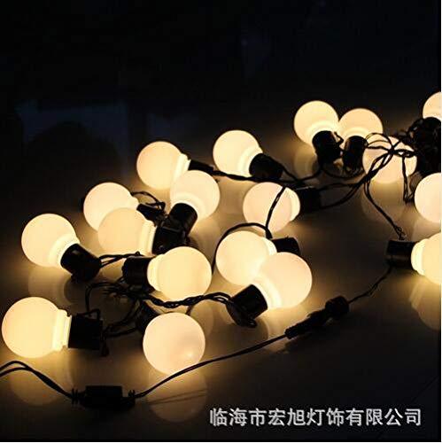Les lantaarn lichtsnoer, waterdicht, led-lamp, fee, voor buiten, transparant, 5 cm, 6 m, 20 lampen, transparant, warmwit
