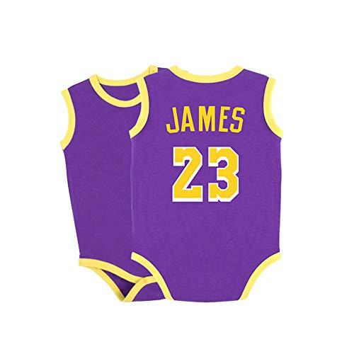 HFJLL Combinaison bébé Nouveau-né Jemes Paul Durant Combinaison 0-15 Mois Crawl Combinaison 18 Styles Maillot bébé,James-Purple,66CM