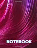 Notebook: Pink & Blue Composition Notebook - Large 8.5 x 11 - College Ruled 110 Pages