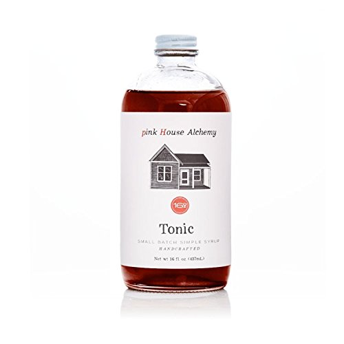 Pink House Alchemy Tonic Syrup - 16 oz Simple Syrup Cocktail Drink Mix - Use to Flavor Coffee - Hawaiian Shaved Ice - Dessert Topping - Using Only Fresh Herbs - (T 16)