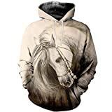 Animal Horse Racing 3D Sudaderas Sudadera Invierno Otoño Largo Selvee Streetwear