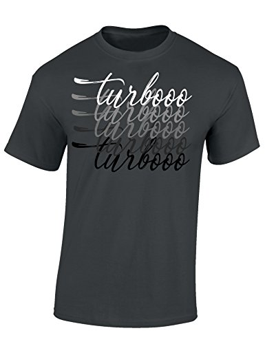 Petrolhead Industries: Turbooo Turbooo - Auto Shirt - Geschenk für Autoliebhaber - T-Shirt für alle Tuning-, Drift-, und Motorsport Fans (M)