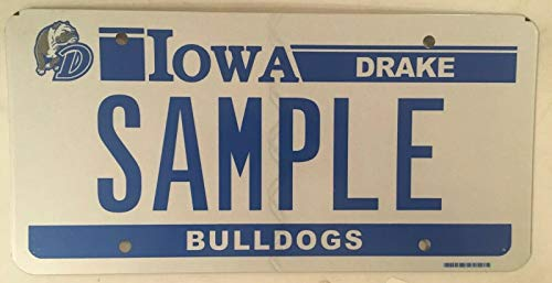 Iowa Drake University Bulldogs License Plate College Des Moines Spike Du Relays License Plate Sign 6x12 inches