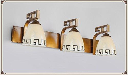 Ancien lampe européenne miroir LED miroir lumières de salle de bain minimaliste américaine de maquillage lumineux salle de coffret étanche murale lampe chinoise (note d'efficacité énergétique A +) ( taille : 3 )