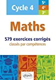 Maths - cycle 4 (5e, 4e et 3e) - 579...
