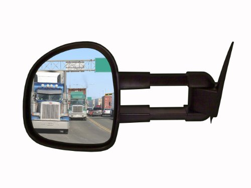 CIPA 70711 Extendable Replacement Electric Heated Towing Mirror fits 2003-2006 Silverado and Sierra Pickup - Left Hand Side