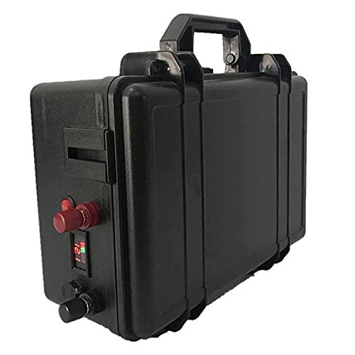 ASD321 Lifepo4 - Batería de Iones de Litio 24V 100AH + Paquete De Batería De Litio Impermeable con Cargador 10A para Inversor, SistemaSolar, Motor De Barco