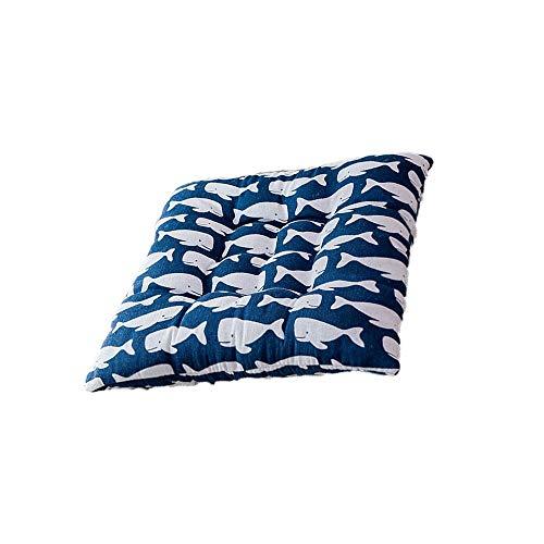 ZZYJYALG Cojín almohada Cojín cuadrado de algodón Cojín Presidente del hogar Home amortiguador de asiento de patrón de rayas cojín de la silla de oficina almohadillas suaves del amortiguador de asient