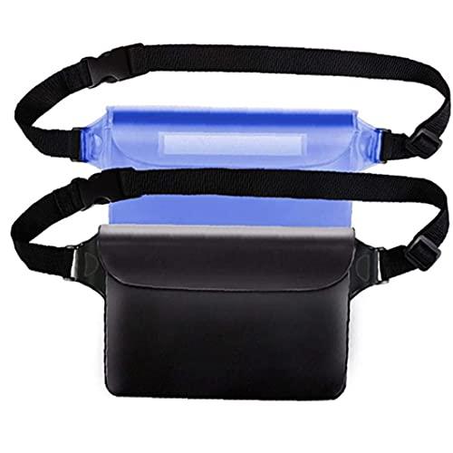 PJKKawesome Pantalla Bolsas Impermeables 2pcs Cinturón Ajustable Táctil para Nadar, Bucear, Navegar, Pescar, Playa Azul