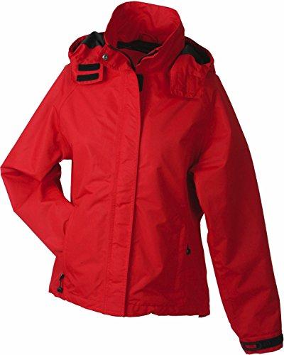 Damen Outdoorjacke Wind- und Wasserdicht L,Rot