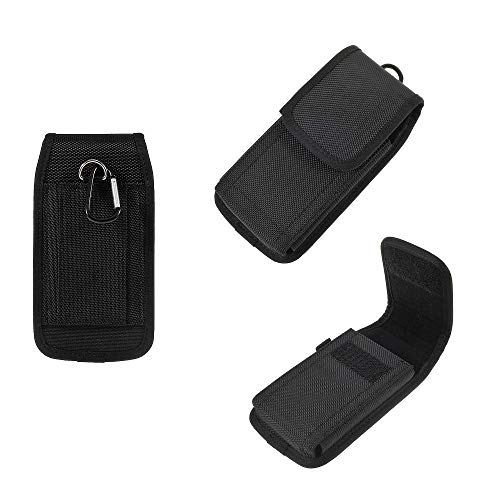 DFV Mobile - Belt Case Cover Business Nylon for ALCATEL 2008G - Black