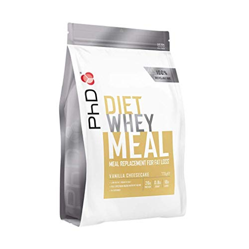PhD Diet Whey Meal, High protein meal replacement shake (Vanilla Cheesecake) 770 g