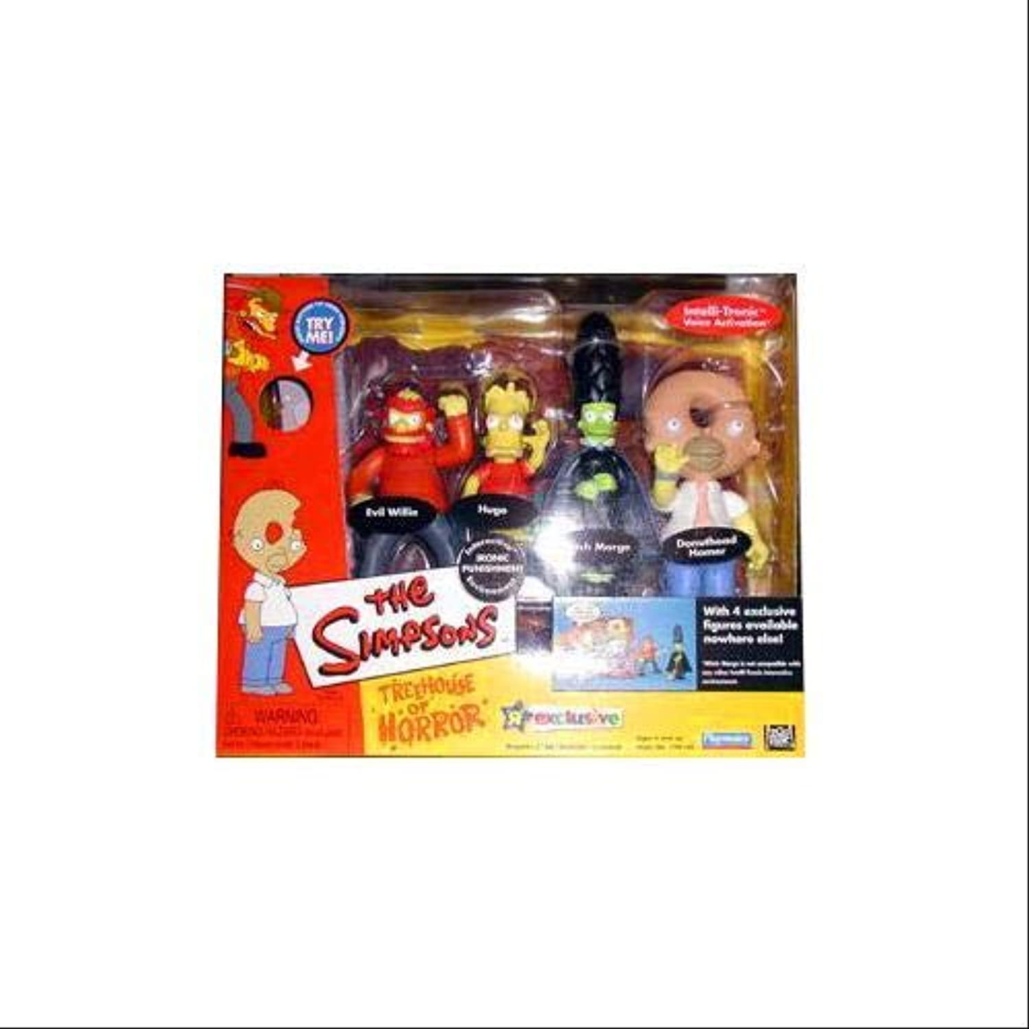The Simpsons Treehouse of Horror Actionfigurenset  Evil Willie, Hugo, Witch Marge & Donuthead Homer