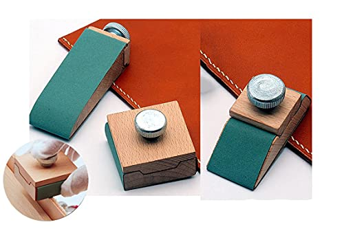 BILLDAN Sanding Blocks,3 PCS Leather Burnisher Sandpaper Holder Mini Sanding Block Leather Edge Burnisher. Replaceable sandpaper Sanding tools Woodworking Furniture Restoration Home Crafts.
