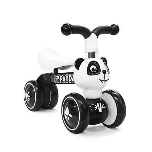 XIAPIA Bicicleta sin Pedales para Niños de 1 Año, Juguete Bebe 1 Año, Bici Equilibrio Correpasillos 1 Año, Regalo Favorito del Niño para Cumpleaños Navidad(Panda)