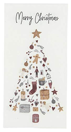 Serviette Merry Christmas mit Tannenbaum 16 Stck von Ib Laursen