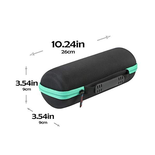 khanka hard travel case replacement for jbl flip5 flip 5 waterproof portable bluetooth speaker (teal)