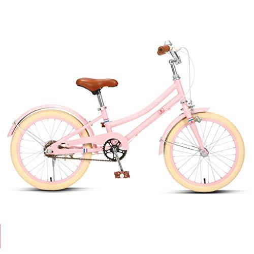 TXTC Kinderfahrrad 8-15 Jahre Altes Mädchen 16/20 Inch-Studentin-Fahrrad, Cruiser Bikes Mit Doppelbremse, Bequemem Sitz, Mädchen Fahrrad Kinderfahrrad (Color : Pink, Size : 20in)