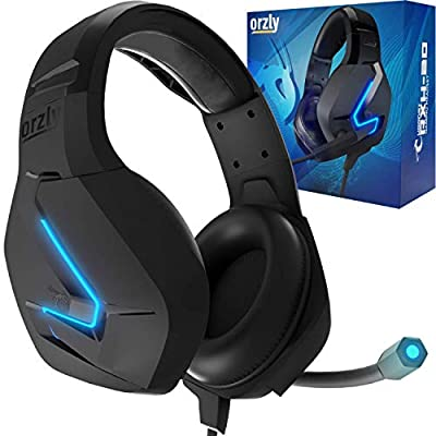 Orzly Gaming Headset for PC and Gaming Consoles PS5, PS4, XBOX SERIES X   S, XBOX ONE, Nintendo Switch & Google Stadia Stereo sound with noise cancelling mic - Hornet RXH-20 Abyss Edition by Orzly