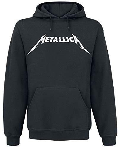 Metallica Glitch Logo Sudadera con Capucha Negro M