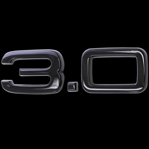 phil trade 3D Glanz Schwarz Emblem Aufkleber Logo 3.0 3,0 Liter Hubraum Tuning Sport L132