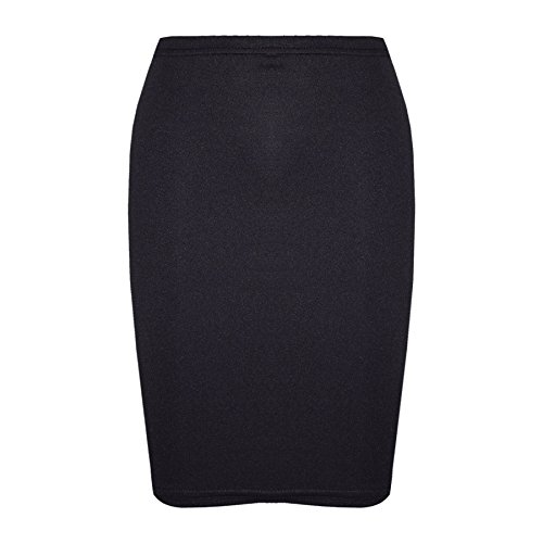 Gilrs Skirt Kids Plain Color School Fashion Dance Pencil Skirts Age 7-13 Years Black
