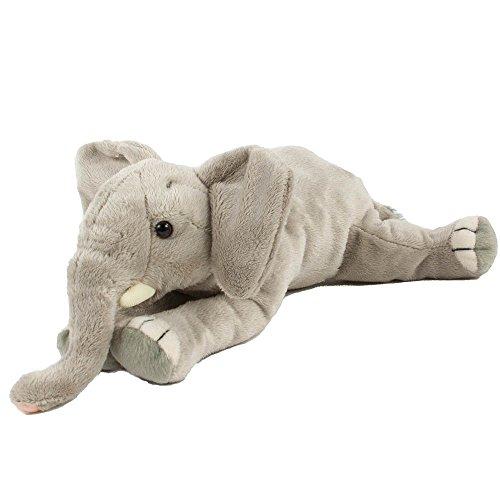 Plüschtier Elefant, liegend 29 cm bezauberndes Kuscheltier gefüllt mit Fasern und Granulat