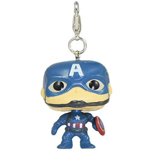 Captain America Avengers Infinity Superhero Merchandise collectors Character 3D Figure Keyring Keychain Bag Backpack Clip Charm Affordable Christmas Stocking Filler Birthday Novelty Gift Set Idea