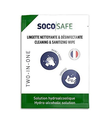 Toallitas hidroalcohólicas individuales para la desinfección de manos y superficies – Pack de 120 toallitas