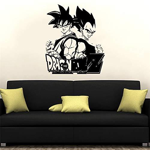 zzlfn3lv Vinyl Wandtattoo Dragon Ball Z Anime Wandkunst Comics Aufkleber Wohnkultur Kinder Jungen Zimmer Kunst Dekor Wandaufkleber 58 * 69 cm