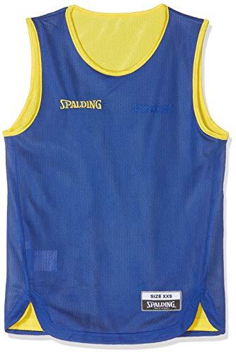 Spalding Kinder Doubleface Tank-top, gelb/Royalblau, XXS