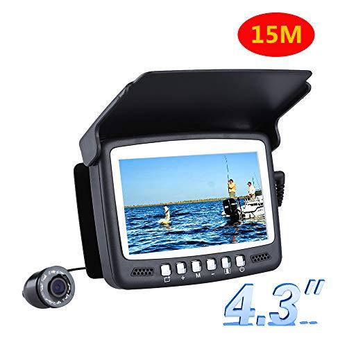 DJG Dispositivo de Alta definición Visual Pesca, 15M 1000TVL buscador de Peces bajo el Agua del Hielo cámara de la Pesca, de 4,3 Pulgadas LCD Monitor, 8PCS de la visión Nocturna cámara de la Pesca