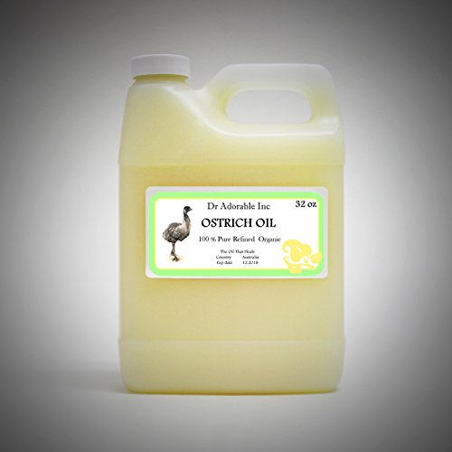 Ostrich Oil by DR.ADORABLE 100% Pure Organic 32 Oz/1 Quart
