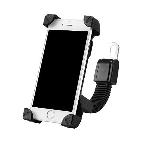 OurLeeme Universele verstelbare 360 graden roteren motor/scooter/elektrische auto/driewieler telefoon houder compatibel met 4,8 naar 7,6 inch voor mobiele telefoon